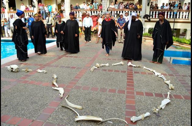 Este fue el acto simbólico realizado por las víctimas.