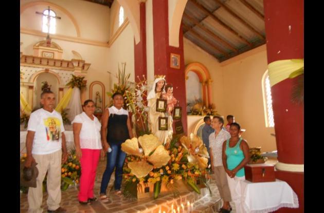 En Turbana se vivió desde temprano los honores a la Virgen del Carmen.