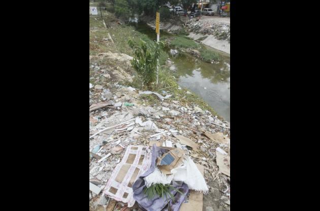 En Los Alpes, así como en otros barrios de la ciudad los canales están inundados pero de basuras.