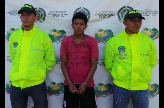 Gabriel Rojas Cárcamo, capturado.