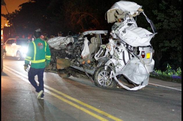 Accidente en la variante MamonalGambote dejó 7 muertos y un herido.