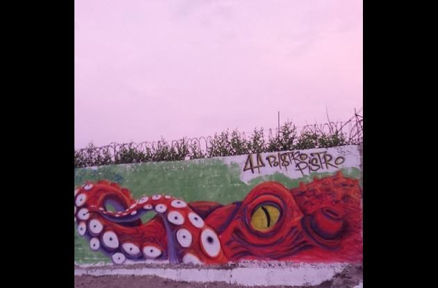 Algunas de las fotografías de las obras artísticas urbanas.