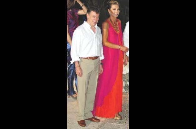 Juan Manuel Santos y María Clemencia Rodríguez de Santos.