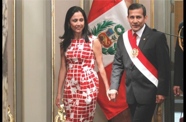 Nadine Heredia y Ollanta Humala.