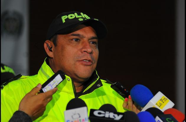 comandante de la Policía Metropolitana de Bogotá, general Humberto Guatibonza,