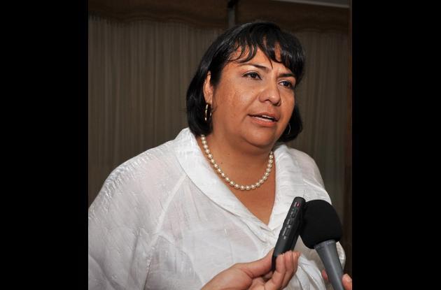 Sandra Gutiérrez, víctima del conflicto armado.