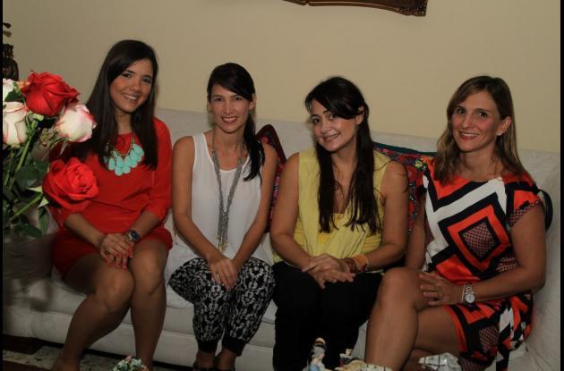 Ana Fernanda Gerdts, Luisa Henao, Claudia Akel y Cristina Dávila.