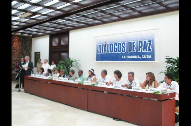 Diálogos de paz en La Habana, Cuba.