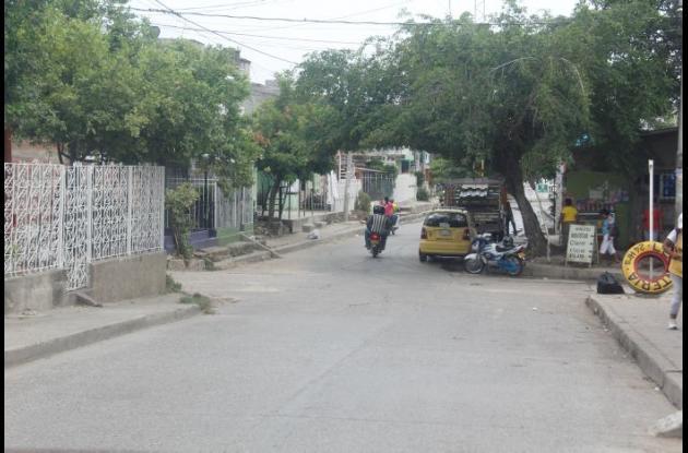 Calle Las Torres, en El Milagro.