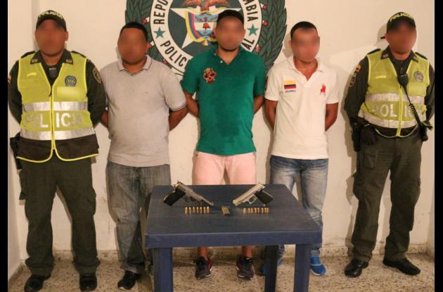 Capturados en Las Gaviotas de la banda 'Los Chiqui'.