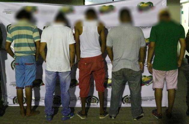 Capturados por porte ilegal de armas.