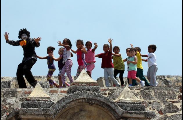 Castillo San Felipe de Barajas niños