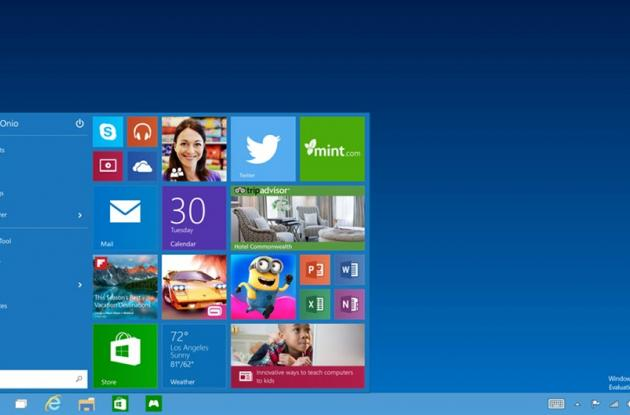 Interfaz gráfica de Windows 10