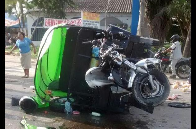Mónica Prada murió. Fue una de las 4 personas que salieron heridas en choque de motocarro con volqueta, en la variante Mamonal-Turbaco.