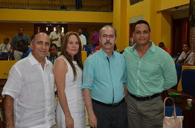David Dager, Patricia Castañeda, William López y Pastor Jaramillo