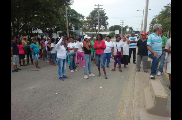 protesta bloqueo mamonal