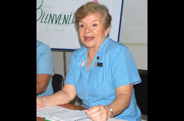 Ena Báez de Zapata, presidenta de la Liga cordobesa contra el cáncer.