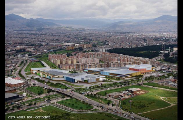 Vista geográfica del Centro Comercial 'El Edén'