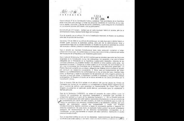 Decreto expedido por la Alcaldía. Página2.