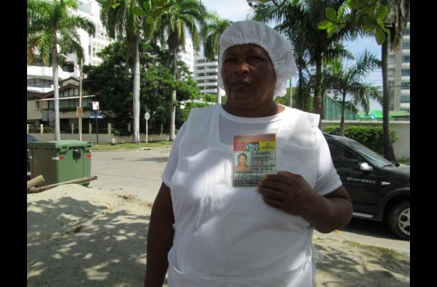 Gloria María Vásquez, vendedora de fritos