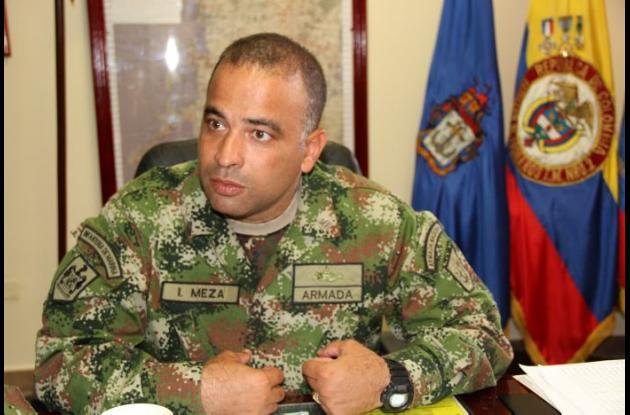 Coronel Ismael Meza Godoy, comandante Batalón de Infantería n° 12