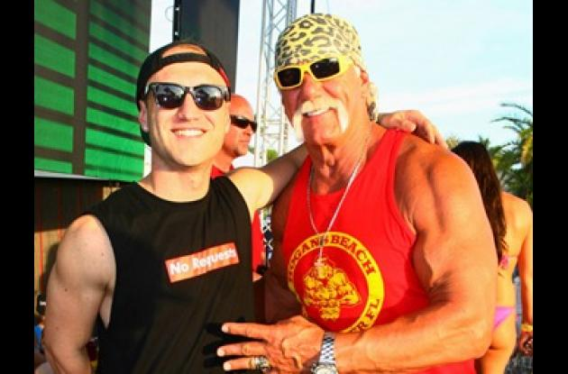 Nick Hogan y Hulk Hogan.