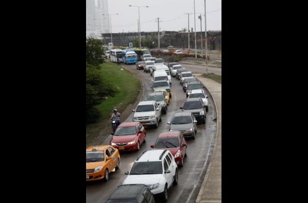 protesta tunel de crespo puente