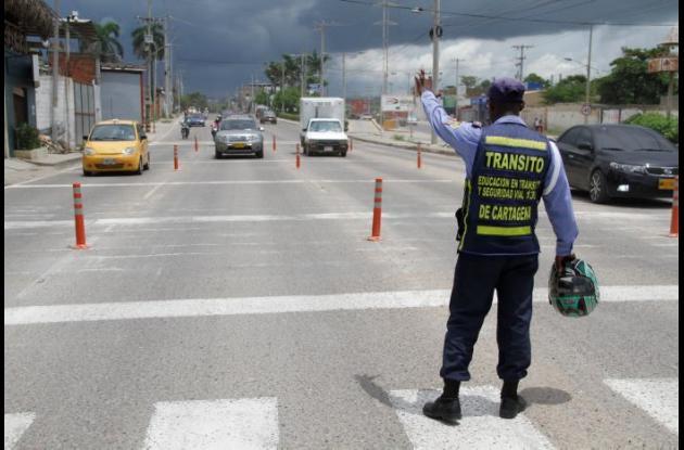el Departamento Administrativo de Tránsito y Transporte (DATT) tiene 63 agentes de tránsito.