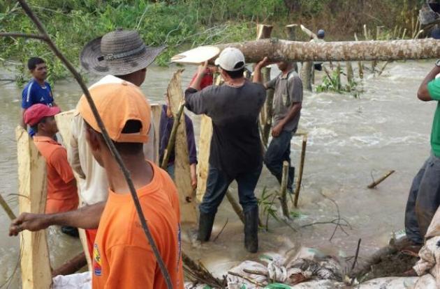 En Guaranda está controlada la emergencia y continúan acciones de reforzamiento de sitios vulnerables.