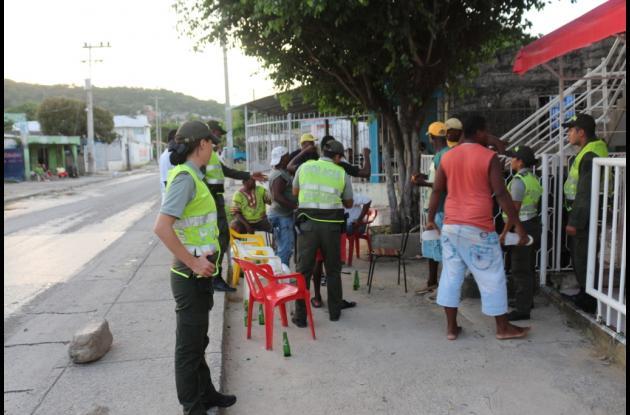 Operativos de la Policía durante fiestas novembrinas en Cartagena.