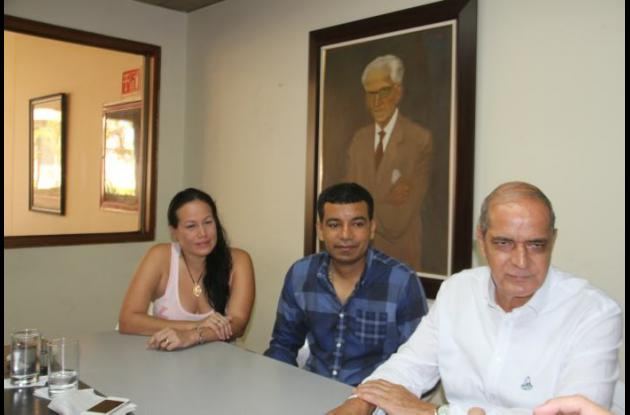 Fany Pachón, Juan Carlos Cárcamo y Jaime Rendón.