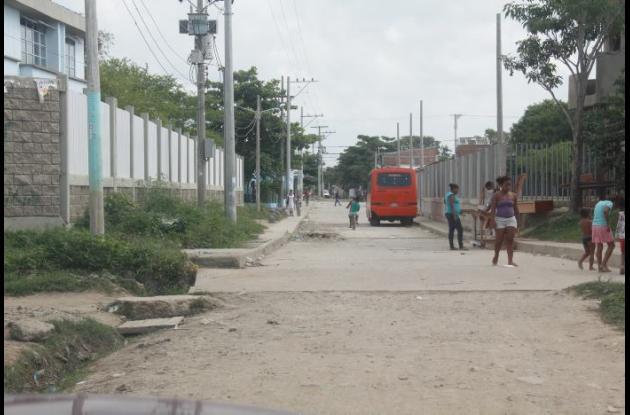 Lugar del sector 11 de Noviembre de Olaya donde atacaron a bala a Diego Plaza y José Argumedo, ambos murieron.
