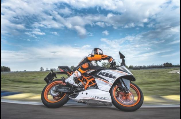 Moto KTM RC 390 Competición.