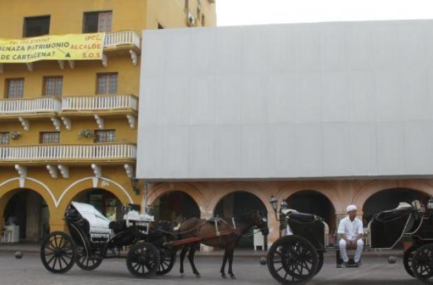 Fachada obra Hotel Santa Catalina