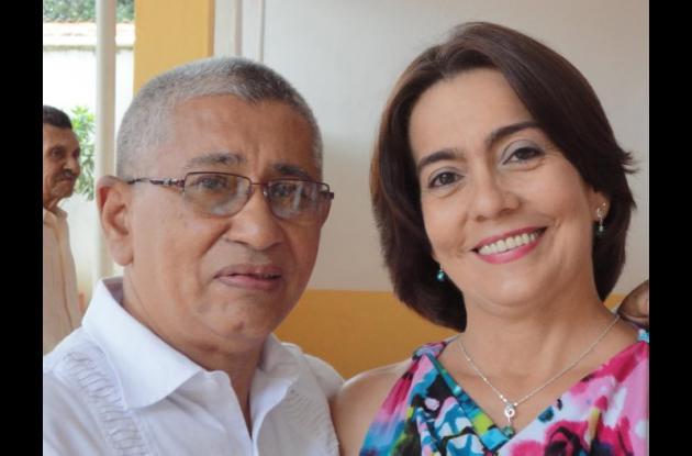 Emiro Del Valle y Lía Rivera, esposos que murieron en accidente entre San Juan y San Jacinto.