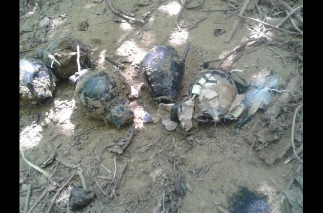 Explosivos hallados en San Estanislao de Kotska.