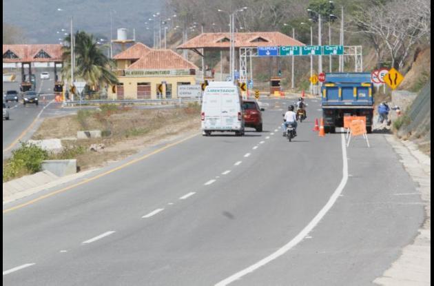 La iluminación de la Vía del Mar será desde el nuevo viaducto de la Ciénaga de la Virgen hasta el peaje de Marahuaco.