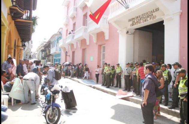 Militarización de despachos judiciales en Cartagena