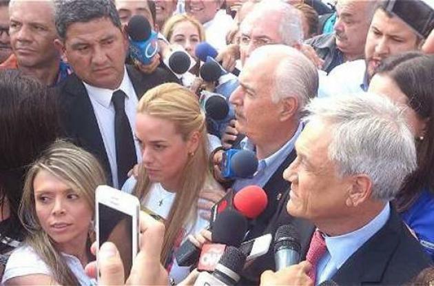 Andrés Pastrana y Sebastián Piñera en Venezuela.