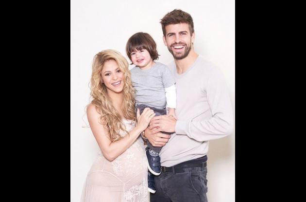 Shakira, Milan y Gerard Piqué.