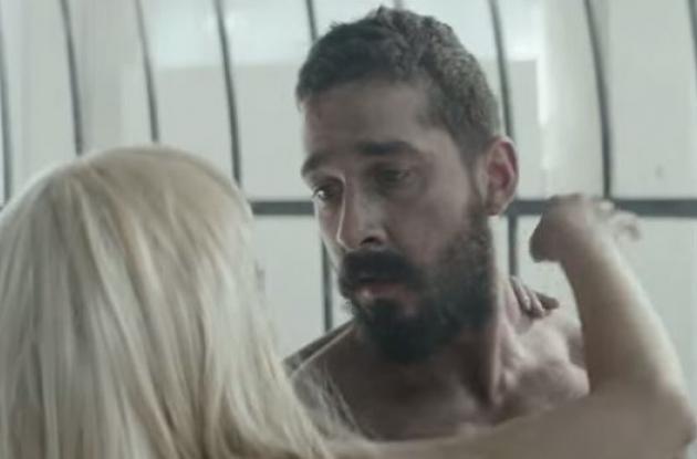 Shia LaBeouf y Maddie Ziegler en el videoclip. Elastic Heart de Sia.