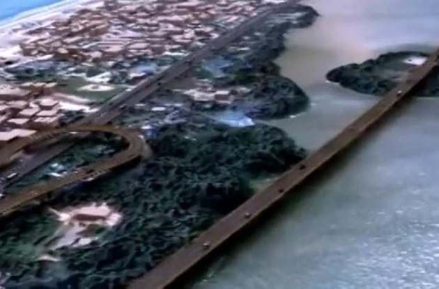 Viaductos sobre la Ciénaga de la Virgen