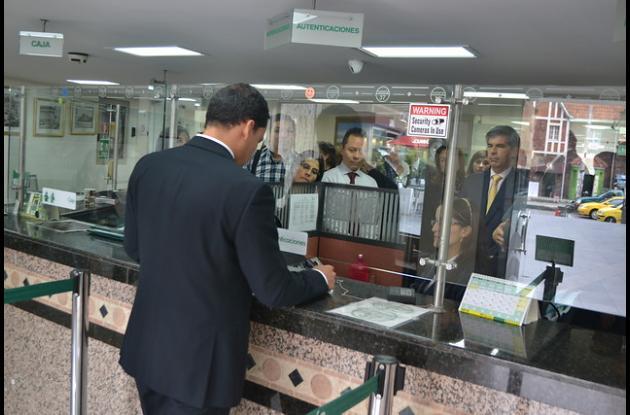 El sistema biométrico se empezó a usar en la Notaría 37 de Bogotá.