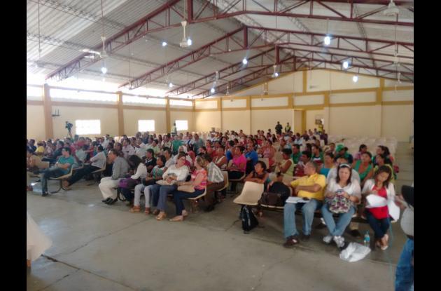 Socialización del informe en El Carmen de Bolívar.niñas enfermas