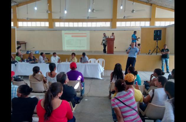 Socialización del informe en El Carmen de Bolívar. niñas enfermas