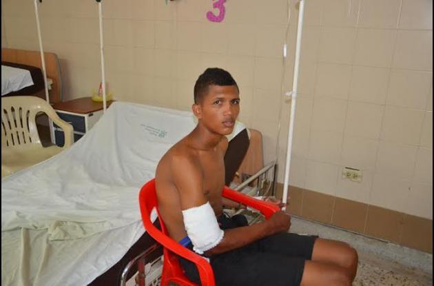 El turbaquero Willington Frías fue baleado por un policía en La Guajira.