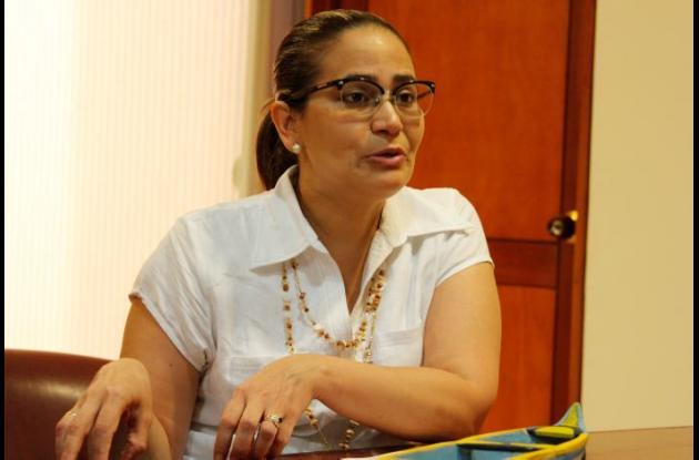 Clara Inés Sagre, secretaria de Educación de Cartagena.