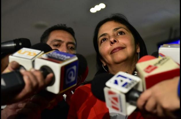 Delcy Rodríguez, fue la encargada de denunciar el orden ejecutiva de Obama.
