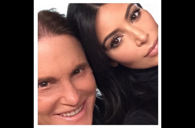 Bruce Jenner y Kim Kardashian.