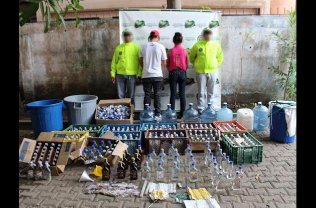 venta de licor ilegal en Colombia